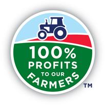 100% profits to our farmers logo